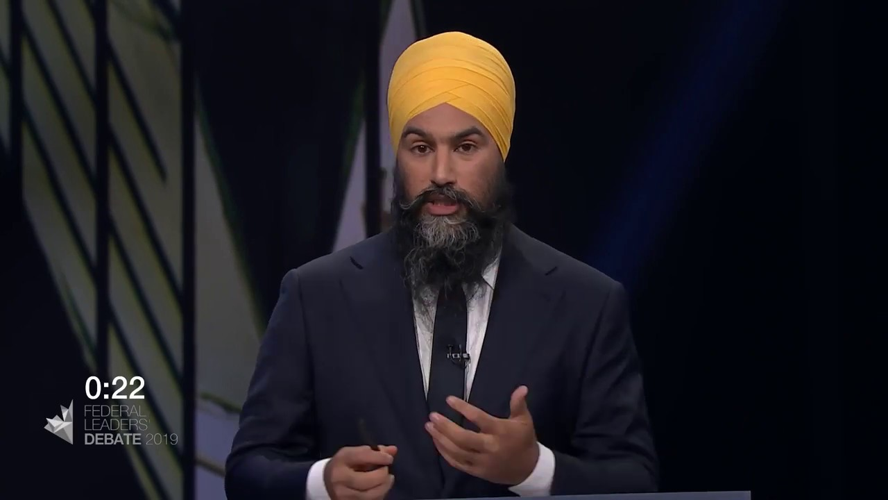 Jagmeet Singh answers a question about divisions within Canada