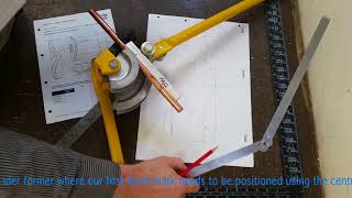 How to make templates to bend pipe passovers accurately using Task P6 from the C&G 6035-02 manual