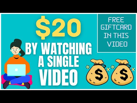Earn $20 For Watching A Single Video! (Make Money Online Watching Videos)