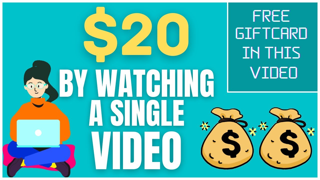 Earn $20 For Watching A Single Video! (Make Money Online Watching Videos) thumbnail