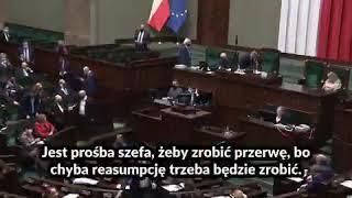 """PiS przegrało głosowanie, Gliński do Witek: """"Elżbieta, jest prośba szefa"""""""