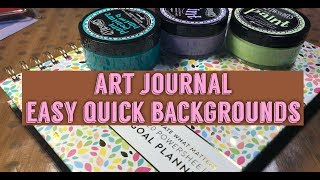My Power Sheets Now an Art Journal | Easy Background Pages