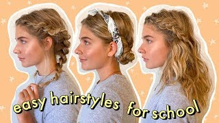 easy + heatless hairstyles for school!