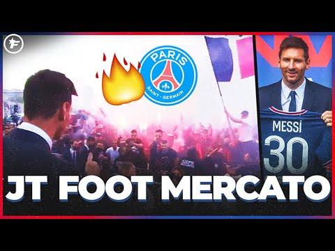 Les fans du PSG en plein délire après l'arrivée de Lionel Messi   JT Foot Mercato
