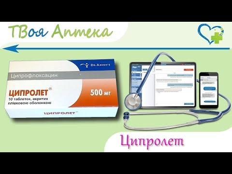 Ципролет таблетки - показания (видео инструкция) описание, отзывы