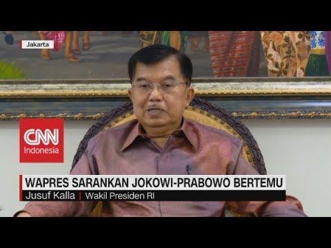 Wapres JK sarankan Jokowi-Prabowo Bertemu Secepatnya