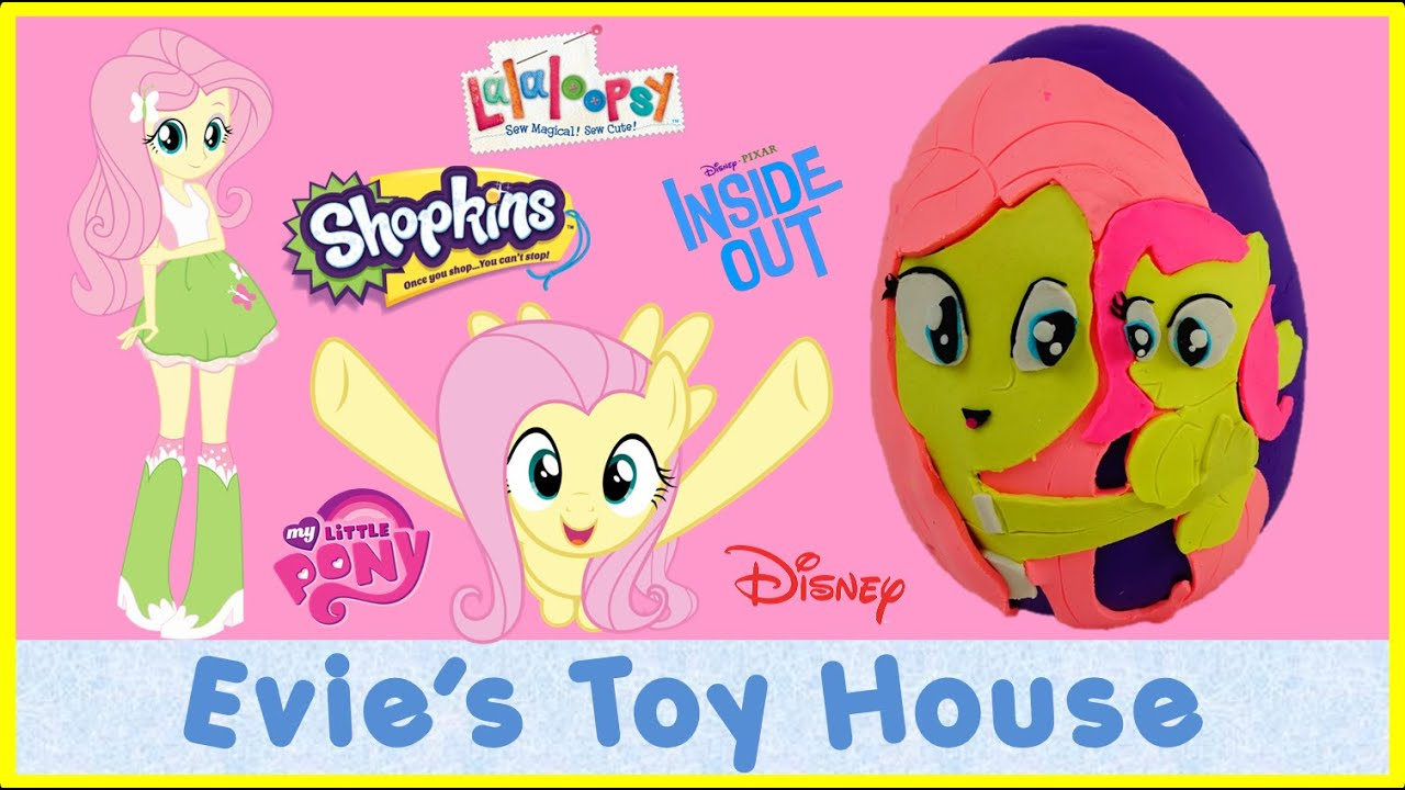 Giant Play-doh Surprise Egg - My Little Pony Fluttershy | Evies Toy House