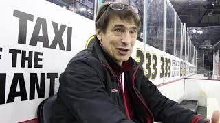 Игорь Горьков, директор ХК «Арлан» после победы на Континентальном Кубке .Головой об лед