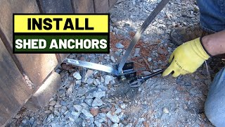 #114 How To Tie Down Storage Shed With Mobile Home Anchors