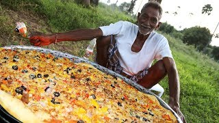 Pizza | Chicken Pizza | Chicken Pizza Cooking by our grandpa for 100 Orphan kids | Kholo.pk