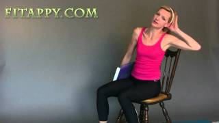 Chair Exercises - Workout in your Office/ sitting at your desk / table by fitappy