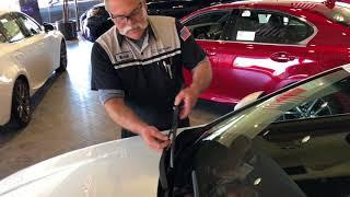 Lexus Wiper Blade Replacement.
