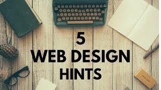 5 Website Design Hints
