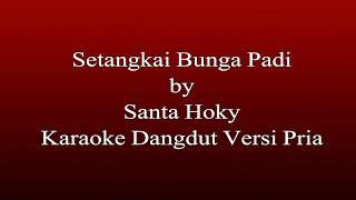 Santa Hoky - Setangkai Bunga Padi Karaoke Dangdut Versi Pria