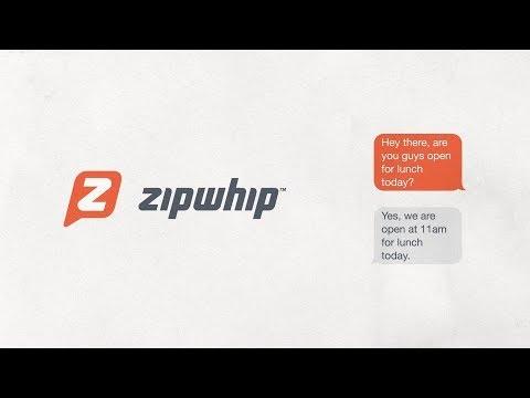 Video of Zipwhip Texting App