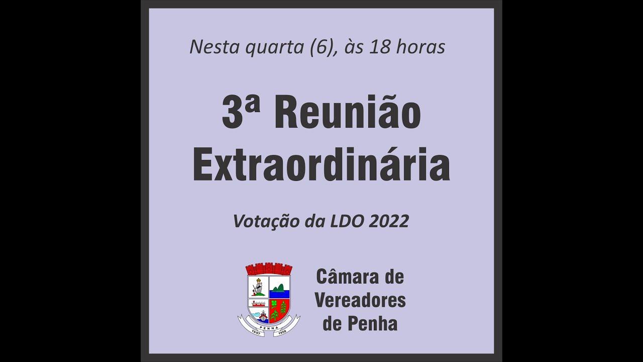 3ª Reunião Extraordinária - 06/10/2021