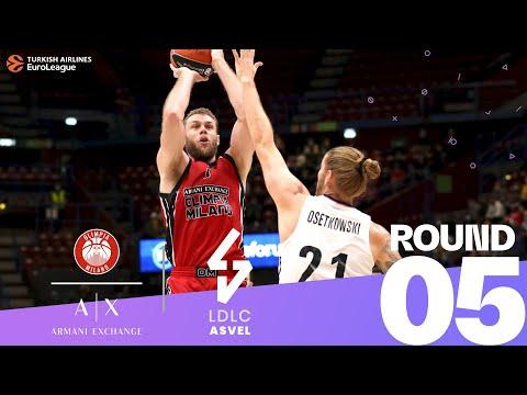 RS Round 5 Highlights: Milan 73-72 ASVEL