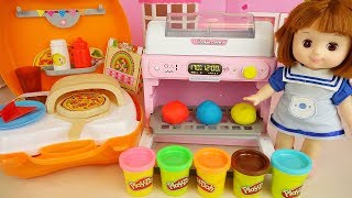 Play doh and Baby doll kitchen oven cooking play Baby Doli house