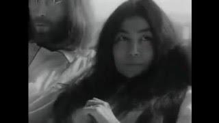 Oude TV Beelden John Lennon en Yoko Ono in bed, Hilton Hotel 1969 Amsterdam