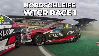 Nordschleife Nurburgring 🏁action in race 1 with the WTCR Touring Cars and Tom Coronel