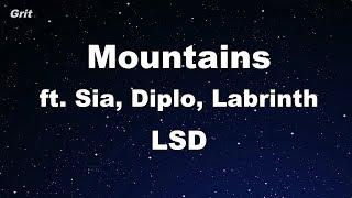 Mountains ft. Sia, Diplo, Labrinth - LSD Karaoke 【No Guide Melody】 Instrumental