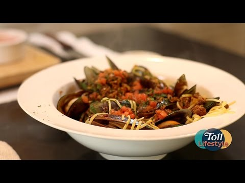 Mussels and Chorizo with Pasta