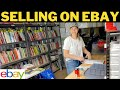 MY PRODUCTIVE DAY AS A FULL TIME EBAY RESELLER   SELLING ON EBAY