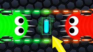 Using 2 HACKED SNAKES To WIN! (Slither.io)