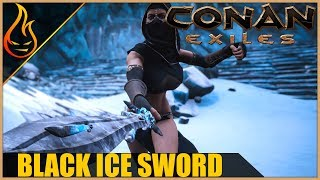 The Temple Of Frost Dungeon And Black Ice Broadsword Conan Exiles 2018 Gameplay Ep7