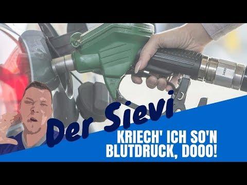 Die Kosten auf das Benzin usn
