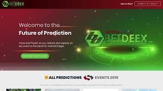 How To Predicts On Events On BetDeEx platform