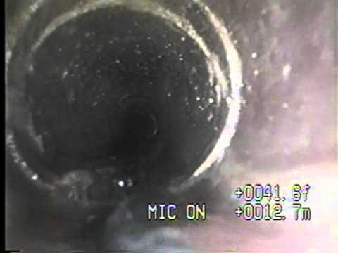 Plumbing Camera - shows pipe needs sewer line repair
