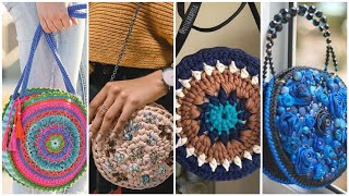Very Colorful Crochet Made Round Boho Bag Designs