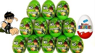 Ben10 Surprise Eggs Kinder Surprise From Cartoon Network by Blutoys Play-Doh Sorpresa Huevos