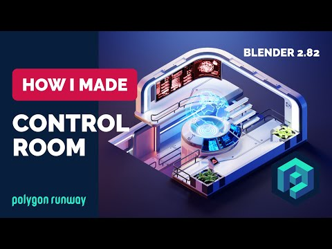 Sci-fi Control Room in Blender 2.8 - 3D Modeling Hard Surface Process