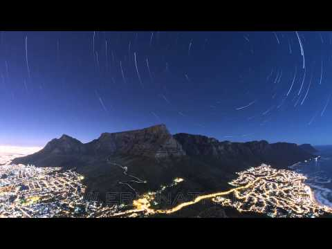 Star Trails Over Cape Town HD