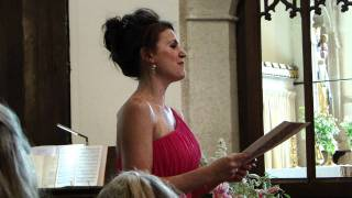 "Emily Booth - Singing ""Il Mondo E Nostro"" - Performed at Karina & Eds Wedding..MP4"