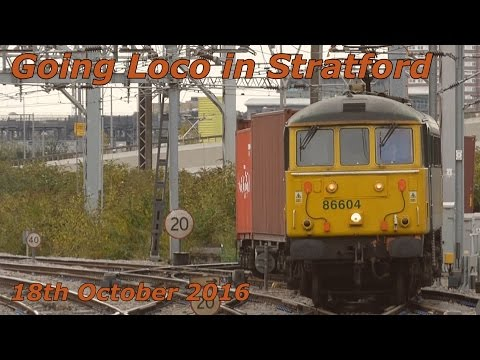 Going loco (Hauled) at Stratford Station on 18th October 201…