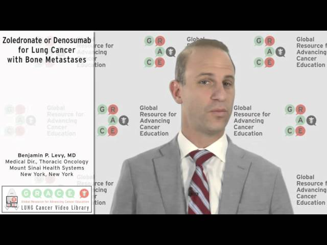 Zoledronate or Denosumab for Lung Cancer with Bone Metastases