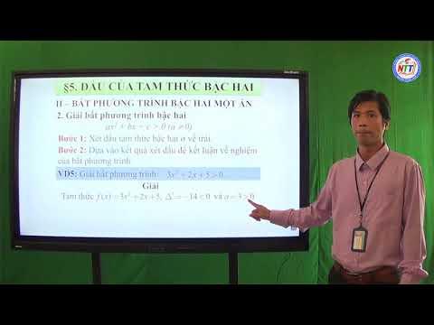 Toán 10 - Dấu tam thức bậc hai (2)