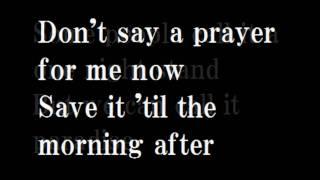 Duran Duran Save A Prayer Lyrics