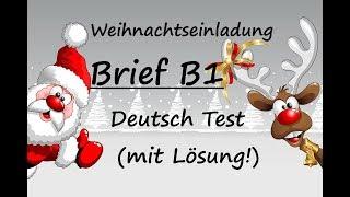 Brief Schreiben B1 Prüfung Einladung Free Online Videos Best
