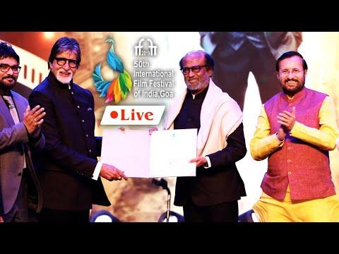 🔴LIVE : 50th International Film Festival of India | Rajinikanth Icon of Golden Jubilee of IFFI 2019