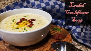 How To Make Keto Loaded Cauliflower Soup | Keto Cauliflower Chowder