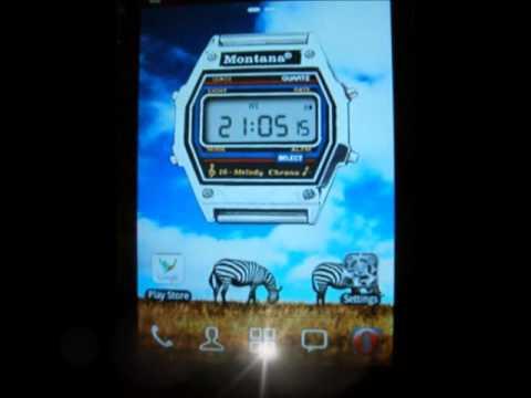 Video of Montana clock