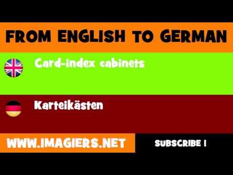 DEUTSCH   ENGLISCH  = Karteikästen
