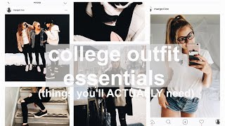 COLLEGE WARDROBE ESSENTIALS (affordable Back To School Necessities)