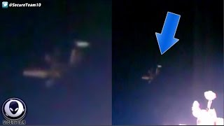 WHAT Is That! Alien Tripod UFO Next To Space Station 102416