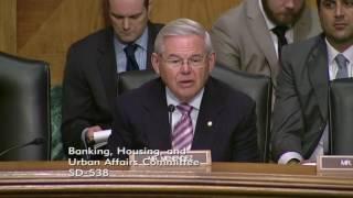 Senator Menendez  Asks About Privatization of Flood Insurance Program