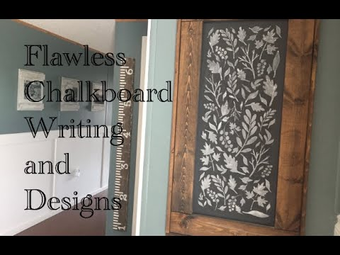How to get flawless chalkboard writing